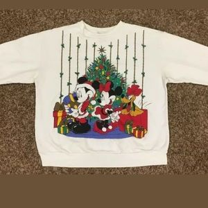 VINTAGE Mickey Disney Christmas sweater medium?